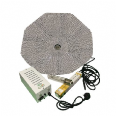 Pro Gear ( Horti Gear ) 600W With Parabolic Reflector ( 1000mm, Silver ) and Sun Lux Pro Dual Spectrum HPS Lamp